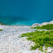 Imotski Blue Lake in Limestone Crater near Split, Croatia — Stockfoto