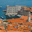 Panorama of Dubrovnik from the City Walls, Croatia — Stock Photo