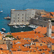 Panorama of Dubrovnik from the City Walls, Croatia — Stock Photo #8924579
