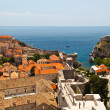 Panorama of Dubrovnik from the City Walls, Croatia — Stock Photo #8924625