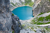 Imotski Blue Lake in Limestone Crater near Split, Croatia — Stock Photo