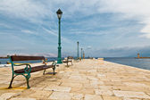 Pier in Mediterranean Town Senj in Croatia — Stock Photo
