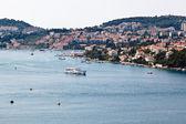 Panoramic View of Dubrovnik Port in Croatia — Stock Photo