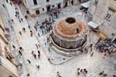 View on Dubrovnik Fountain from the City Walls, Croatia — Stock Photo