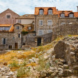 Houses Ruins in Dubrovnik, Croatia - Stock Photo