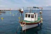 Fisherman Boat Docked at Harbor in Senj, Croatia — Stock Photo