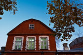 Traditional Red Brick House in Samara, Russia — Stock Photo