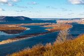 Panoramic View of Volga River Bend near Samara, Russia — Stock Photo