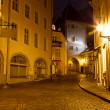 Night Street in the Old Town of Tallinn, Estonia — Stock Photo