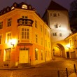 Stock Photo: Night Street in the Old Town of Tallinn, Estonia