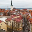 Panoramic View on Old Town of Tallinn from Above, Estonia — 图库照片