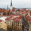 Panoramic View on Old Town of Tallinn from Above, Estonia — Lizenzfreies Foto