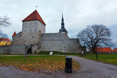 City Wall and Towers of Old Tallinn, Estonia — Stock Photo