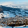 View from Above on Mountain Village of Megeve, French Alps — Stock Photo