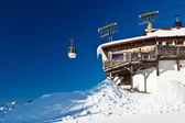 Upper Cable Lift Station and Gondola in French Alps — Stock Photo