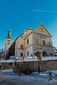 Medieval Church on the Central Square of Megeve, French Alps — Stock Photo