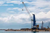 Harbor Crane in Port of Rijeka in Istria, Croatia — Stock Photo