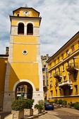 Glockenturm mit der uhr in rijeka, kroatien — Stockfoto