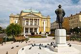Kasalisni Park and Theater Building in Rijeka, Croatia — Stock Photo