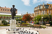 Kasalisni park och ivan zajc monument i rijeka, Kroatien — Stockfoto