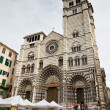 Cathedral of Saint Lawrence (Lorenzo) in Genoa, Italy - Stock Photo
