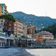 Morning at the Pebble Beach in Camogli, Italy — Zdjęcie stockowe