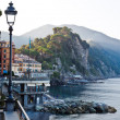Morning at the Pebble Beach in Camogli, Italy — Foto de Stock