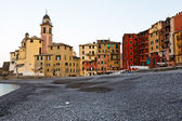 Church in the Village of Camogli at the Morning, Italy — Stock Photo