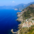 Stock Photo: Aerial View of Riomaggiore in Cinque Terre, Italy