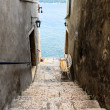 Narrow Stairway to Sea in Rovinj, Croatia — Stock Photo