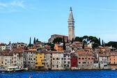 The City of Rovinj on Istria Peninsula in Croata Lit By Morning — Stock Photo