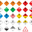 Stock Vector: Hazardous pictograms - goods signs