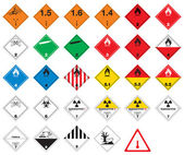 Hazardous pictograms - goods signs — Stock Vector