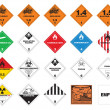 Hazardous materials - Hazmat Labels - Stock Vector