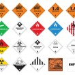 Stock Vector: Hazardous materials - Hazmat Labels