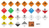 Hazardous materials - Hazmat Labels — Stock Vector