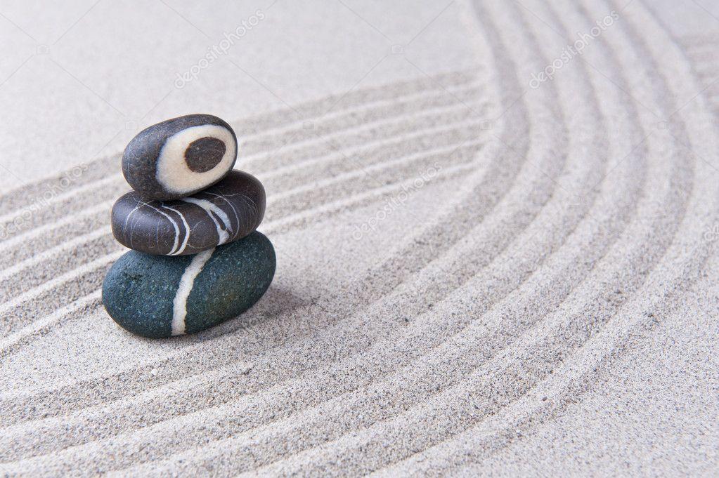 Japanese zen garden stone stock photo sonsam 8707067 - Japanese sand garden mini ...