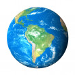 Earth Model from Space: South America View — Stock Photo #9936620