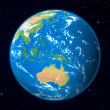 Earth Model from Space: Australia View - Stock Photo
