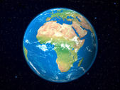 Earth Model from Space: Africa View — Stock Photo