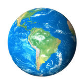 Earth Model from Space: South America View — Stock Photo
