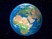 Earth Model from Space: Europe View — Stock Photo