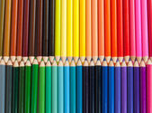 Heap of colored pencils — Stock Photo