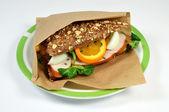Sandwich chicken. — Stock Photo