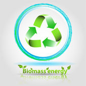 Biomass energy — Stock Vector