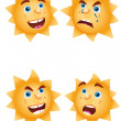 Stock Vector: Funny sun like funny icon