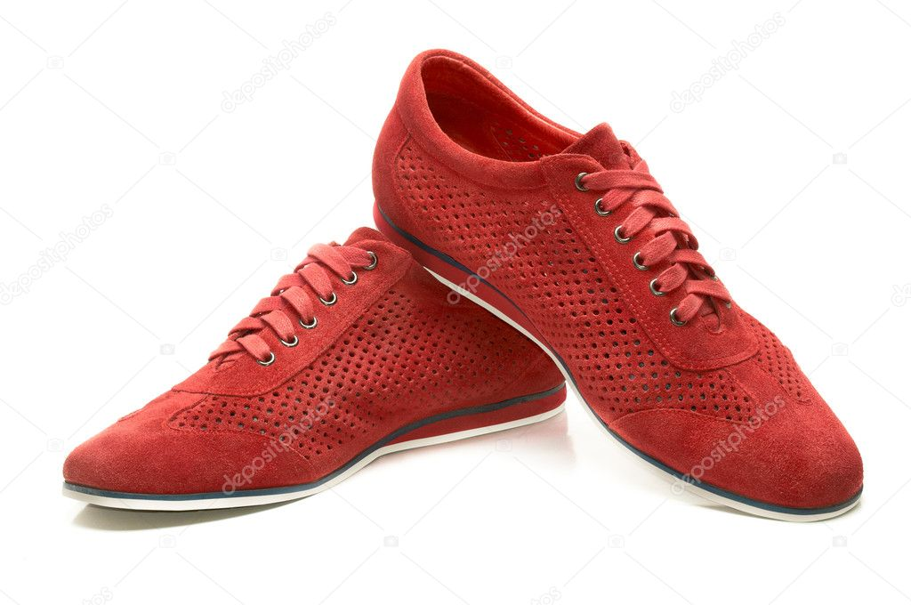 Red suede shoes — Stock Photo #8859069