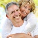 Mature couple smiling — Stock Photo