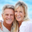 Happy mature couple outdoors. — Stock Photo #8731766