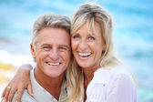 Happy mature couple outdoors. — Stock Photo
